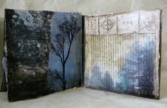 earth-trees by bgmills, via Flickr..lots of other wonderful art journal pages and mixed media creations.
