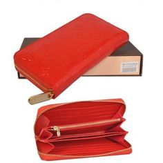 Louis Vuitton Monogram Vernis Purse Red M91732 [M91732] :