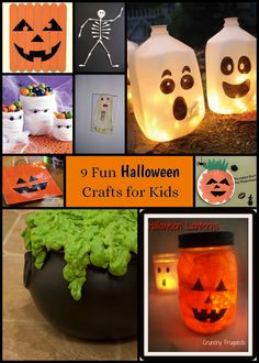 9 fun Halloween crafts for kids - something for everyone in this fun craft collection!