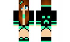 minecraft skin DJ-girl-edit Find it with our new Android Minecraft Skins App: https://play.google.com/store/apps/details?id=the.gecko.girlskins