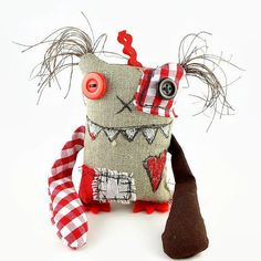 Small Monster Doll. Stuffed Monster Toy. Ooak Halloween by MiaPuPe