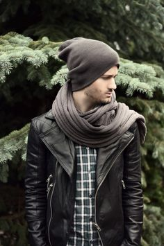 Scarf and beanie for a statement look