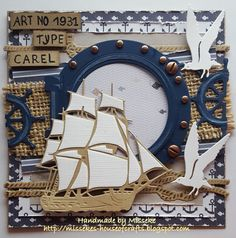 Männerkarten Seekarte der Männer Basement Mold – The Most Common Place In The Home Article Body: Bas Beach Scrapbook Layouts, Cruise Scrapbook, Scrapbook Cards, Masculine Birthday Cards, Birthday Cards For Men, Masculine Cards, Marianne Design Cards, Nautical Cards, Beach Cards