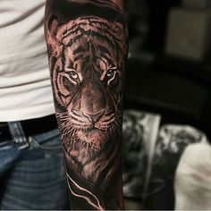 Tiger tattoo by @alex_d_west