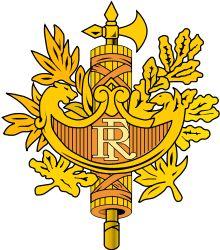 Brasão de armas da França. Coat of arms of France.