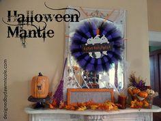 DIY Halloween : DIY Halloween Mantle
