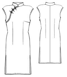 Free pattern at http://diyfashion.about.com/gi/o.htm?zi=1/XJ&zTi=1&sdn=diyfashion&cdn=style&tm=63&f=00&su=p284.9.336.ip_p504.3.336.ip_&tt=3&bt=0&bts=0&zu=http%3A//m-sewing.com/patterns-catalog/women/dresses/asian-dress.html