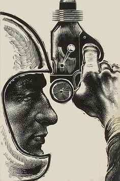 Gunner Cade (1952) cover art by Paul Bacon