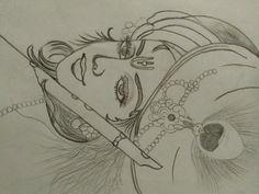Drawing of Lord Krishna Lord Krishna Sketch, Ganesha Sketch, Ganesha Drawing, Radha Krishna Sketch, Krishna Painting, Krishna Art, Radhe Krishna, Pencil Art Drawings, Art Drawings Sketches