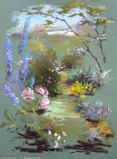 Nature artwork illustration paintings 15 ideas for 2019 Soft Pastel Art, Pastel Artwork, Pastel Flowers, Pastel Drawing, Pastel Paintings, Soft Pastels, Crayons Pastel, Pastel Pencils, Art Floral
