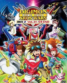 DVD ANIME Digimon Xros Wars Season 2 Vol.31-54End Digimon Fusion English Sub
