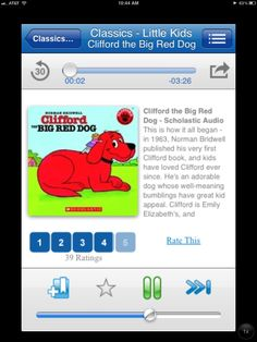 Tales2Go app. stream audio books from your device, & have all your kids' fav books with you on the go. kinda like netflix for books.