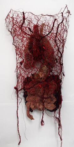 New Skin Anatomy Weird Ideas Textile Sculpture, Textile Fiber Art, Textile Artists, Anatomy Art, Skin Anatomy, Human Body Anatomy, Medical Art, A Level Art, In Vino Veritas