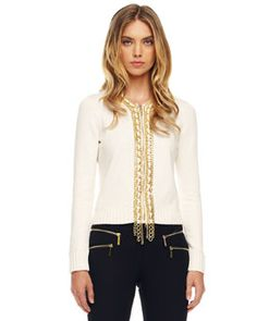 MICHAEL Michael Kors  Chain-Front Sweater