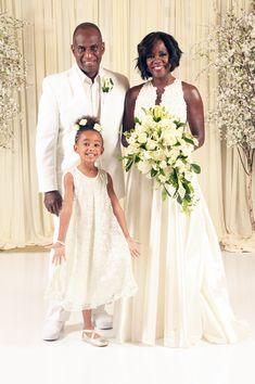 "accras: "" InStyle Exclusive: All About Viola Davis's Wedding Vow Renewal Look "" Black Love, Black Is Beautiful, Beautiful People, Black Art, Viola Davis, Celebrity Wedding Dresses, Celebrity Weddings, Black Celebrities, Celebs"