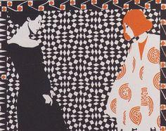 Art Nouveau Poster by Austrian Koloman Moser as an Illustration for a Poem in 1901