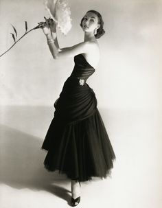 Horst P. Horst:: Evelyn Tripp in a design by Charles James, New York, 1951