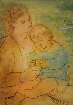 Pablo Picasso, Mother and Child,1922 at Baltimore Art Museum