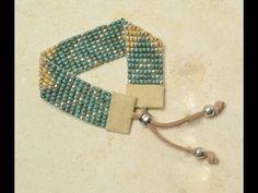 ▶ Una estupenda forma de terminar nuestra pulsera con cuero. Tricks to Looming and Bead Weaving - YouTube