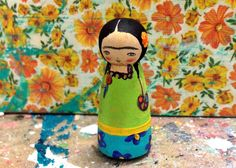 Frida Kahlo Peg Doll