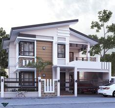 Two Story House Design, 2 Storey House Design, Best Modern House Design, Modern Exterior House Designs, Modern House Facades, Modern Bungalow House, Bungalow House Design, House Design Photos, Small House Design