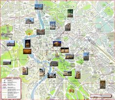 Map of Rome with top tourist attractions