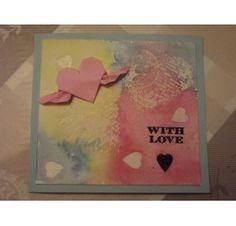 Réalisez une carte avec un coeur en relief pour la St Valentin : Martine P