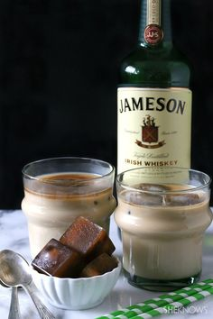 The classic coffee cocktail, Irish Coffee, made with coffee ice cubes. Genius. | SheKnows