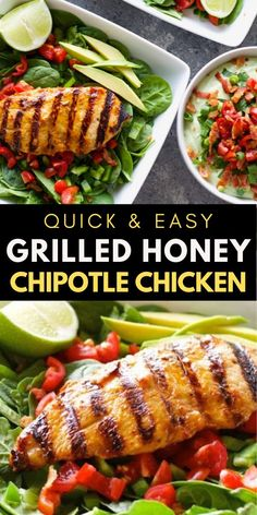 This Easy Grilled Chipotle Chicken is a quick and easy summer dish! This grilled chicken recipe is perfect for easy wraps, salads or meal prep!  #chicken #grill
