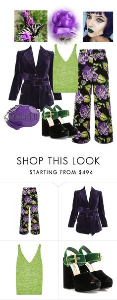 """""""Boho Purple Rose"""" by boutiquebrowser ❤ liked on Polyvore featuring Temperley London, Tom Ford, Missoni, Prada and Moschino"""