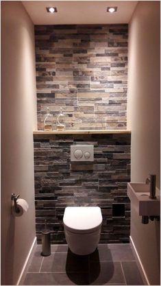 Bathroom design small - Space Saving Toilet Design for Small Bathroom – Bathroom design small Small Toilet Design, Small Toilet Room, Small Space Bathroom, Small Bathroom Storage, Bathroom Design Small, Small Spaces, Toilet Storage, Bedroom Small, Small Bathrooms