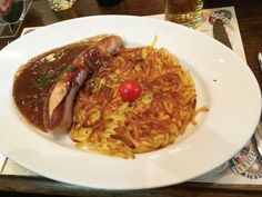 Swiss Roesti with a veal bratwurst