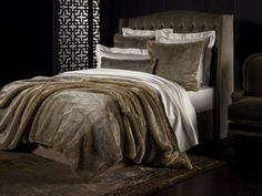 Sheridan's 'Rochard' collectoion is available in cushions, throws and square pillowcases. 'Rochard' features a supremely soft faux fur fabric. Egyptian Cotton Duvet Cover, Egyptian Cotton Bedding, Fur Bedding, Linen Bedding, Bed Linen, Bedding Sets, Luxury Bedspreads, Luxury Bedding, Sheridan Bedding