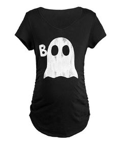 16aec48c15a Take a look at this Black  Boo  Ghost Maternity Tee by CafePress on