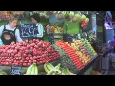 """World Food Markets Spain    Join award-winning cookbook author Paulette Mitchell on a tour of a food market in Barcelona, Spain to explore Spanish culture and food in this clip from """"World Food Markets: Spain"""" from Learning ZoneXpress."""