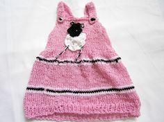 Hängerchen, Kleid, Gr. 50-62, rosa mit Schäfchen von BlackSheepFactory auf DaWanda.com