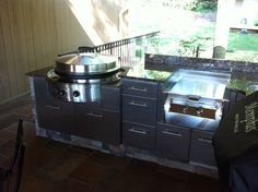 A Fireside Outdoor Kitchen using the EVO 30G and the Power Burner in gorgeous Danver SS cabinets.  www.firesideoutdoorkitchens.com