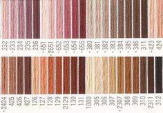 コスモ刺繍糸 刺しゅう糸#25番糸 茶色系 Colour, Color, Colors