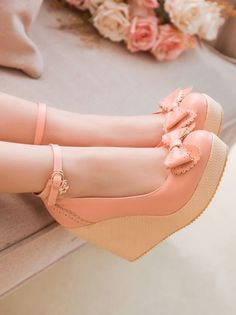 Cheap wedding shoes, Buy Quality wedding shoes women directly from China women pumps Suppliers: Akexiya 2017 New Fashion Sexy Wedges High Heels Women Pumps PU Leather Ladies Ankle Straps Wedding Shoes Woman Single Shoes Prom Shoes, Wedding Shoes, Women's Shoes, Shoe Boots, Platform Shoes, Pink Wedge Shoes, Pink Wedges, Peach Shoes, Wedge Sandals