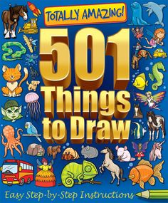 ♥DRAW♥ 89 501 THINGS TO DRAW BOOK Step By Step Instructions, Easy Drawings, Comic Books, Comics, Cool Stuff, Art, Art Background, Kunst, Cartoons