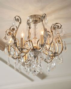 Clover 2Light Flush Mount Gold Low ceilings Guest houses and