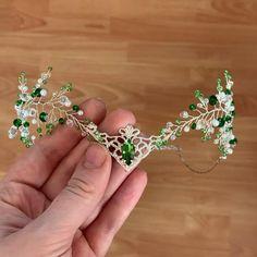 Wedding Tiara Veil, Bridal Tiara, Bridal Crown, Diy Tiara, Girls Tiara, Woodland Elf, Fairy Crown, Silver Tiara, Wire Jewelry Designs