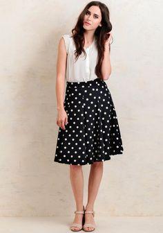 In Session Polka Dot Skirt