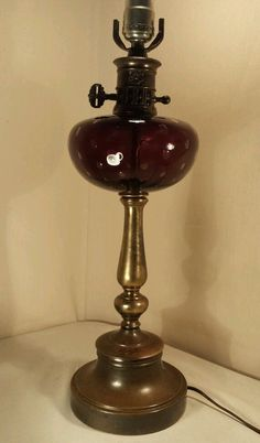Asking: $399.  Artist Carl Erickson Glass Controlled Bubble Amethyst Brass Lamp RARE (All About That Glass in Pickerington)