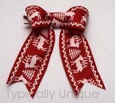 Christmas Wire edged ribbon bows ' Rudolph' http://stores.ebay.co.uk/Typically-Unique-Flowers-and-Gifts?_rdc=1