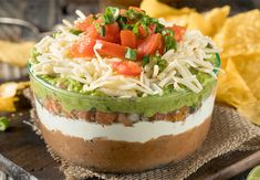 Nandi makes the BEST 7 Layer Bean Dip for your Super Bowel party! Mexican Bean Dip, Mexican Dips, Mexican Food Recipes, Diabetic Recipes, Keto Recipes, Healthy Recipes, Bean Dip Recipes, Snack Recipes, Snacks