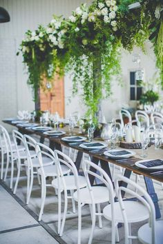 no room on table - no sweat- via @modernwedding blog An Indoor-Outdoor Wedding by She Designs