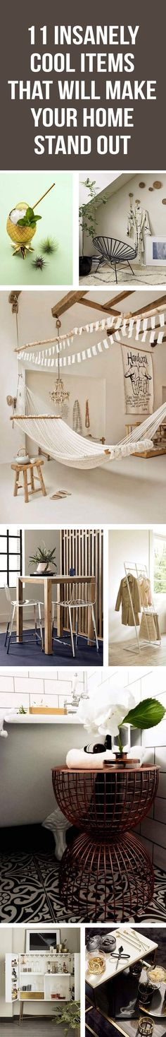 These awesome products will make your home the trendiest and most unique with these jaw-dropping items.  house decor, interior design, bedroom decor, shabby chic, living room, apartment, loft. #decor #homedecor #standout