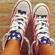 America flag shoes shoes sneakers patriotic fourth of july Chuck Taylor's. I need these for Mae!