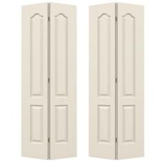 JELD-WEN 36 in. x 80 in. Craftsman White Painted Smooth Molded Composite MDF Closet Bi-Fold Double Door-THDJW160200110 - The Home Depot Craftsman Interior Doors, Jeld Wen Interior Doors, Craftsman Style Doors, Double Doors Interior, Kitchen Updates, Updated Kitchen, Accordian Door, Folding Closet Doors, Doors